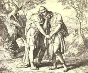 Jonathan_Lovingly_Taketh_His_Leave_of_David_by_Julius_Schnorr_von_Carolsfeld
